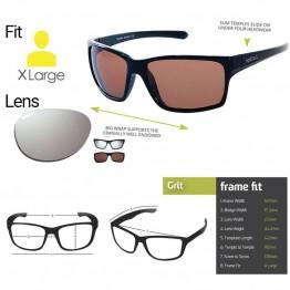 "Spotters ""Grit"" Black Matte Sunglasses & Polarised Platinum Mirror Lens"