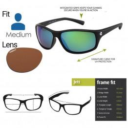 """Spotters """"Jett"""" Black Matte Sunglasses & Polarised Photochromic Penetrator Lens"""