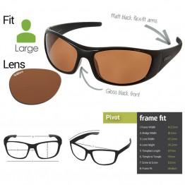 "Spotters ""Pivot"" Hybrid Black & Polarised Photocromatic Penetrator Lens"