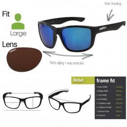 "Spotters ""Rebel"" Black Matte & Halide Sunglasses"
