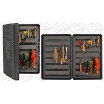 Stalker Tackle Fly Box - Black w Assorted 20 Streamer Flies