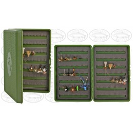 Stalker Tackle Fly Box - Green w Assorted 20 Dry Flies