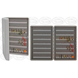 Stalker Tackle Fly Box - Grey w Assorted 20 Nymph Flies