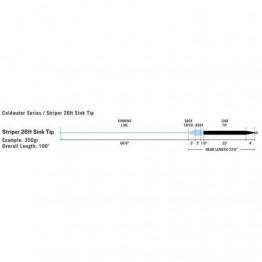 Rio Striper 26ft Sink Tip 250gr Black/Gray WF7S