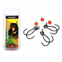 Tasmanian Devil Twin Single Hook Rig 3 Pack