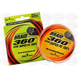 Timber Wolf 360 8-50lb 125m Fluro Orange Braid