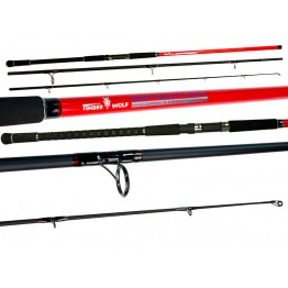 Timber Wolf Nano Red 13' 3 Piece 10-20kg Surf Rod