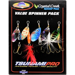 Tsunami Spinner Lures Crystal Creek 5 Pack