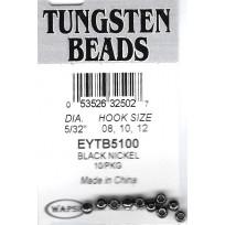 """Tungsten Beads 5/32"""" or 4mm Dark Grey x 10"""
