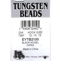 """Tungsten Beads 7/64"""" or 2.8mm Dark Grey x 10"""