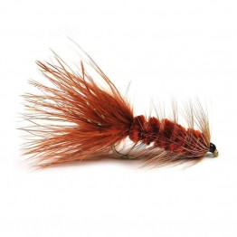 Brown Woolly Bugger Streamer Fly