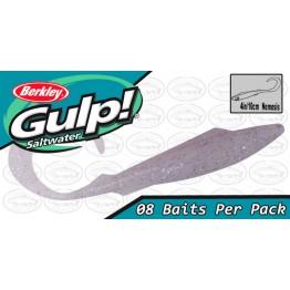 "Berkley Gulp Nemesis 4"" Clear Lavender Pearl Holo Softbait"